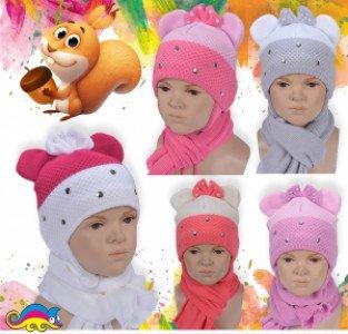 Комплект (шапка+шарф) 4апх 80207