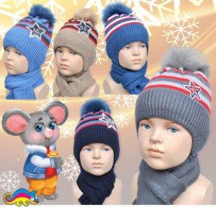 Комплект (шапка+шарф) 4асх 80306