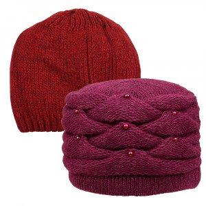 Полушерстяные двойные шапки